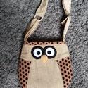 baglyos kis táska, Táska, Válltáska, oldaltáska, aranyos ez a baglyos kis táska. Méretei magasság 28 cm  szélesség 30 cm  fület lehet állítan..., Meska