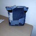 Kézi farmer táska., Táska, Varrás, Nagyon vagány kézi farmer táskát készítettem. Méretei magasság 36 cm szélesség 28 cm oldal szélessé..., Meska
