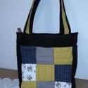 Steppelt farmer táska, Táska, Válltáska, oldaltáska, Varrás, Készítettem egy nagyon aranyos táskát. vatelinnel bélelve . belül 2 zseb található. Méretei magassá..., Meska