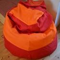 Babzsákfotel, Baba-mama-gyerek, Bútor, Otthon, lakberendezés, Babzsák, Babzsákfotel:  Erős piros és narancssárga vászonból készült. Ülésre, fekvésre (eldöntve)..., Meska
