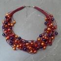 L2019 Gloriosa nyaklánc ,  Intenzív színek kavalkádja: bordó, narancs, s...