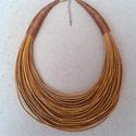 Mogyoróbarna pamut nyaklánc L2070, Viaszolt pamut nyaklánc meleg, őszi színben.  A...