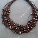 L2100 Thrilling Chocolate nyaklánc , A nyaklánc hossza 43+5cm  A valódi szín eltérh...