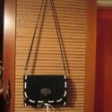 Fekete alkalmi táska választható bőrfűzéssel, Táska, Válltáska, oldaltáska, A TERMÉK ELKÉSZÍTÉSI IDEJE VÁLTOZHAT,AZ AKTUÁLIS RENDELÉS MENNYISÉGÉTŐL FÜGGŐEN!  -való..., Meska
