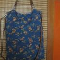 8 féleképpen variálható táska, Táska, Szatyor, Laptoptáska, Válltáska, oldaltáska, Bőrművesség, Varrás, -vékony virágmintás farmeranyagból,csíkos farmerhatású vászonból és egyszínű szintén farmerhatású a..., Meska