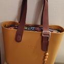 O bag táskadísz színes fagolyókkal és fémdíszekkel, Táska, Válltáska, oldaltáska, Szatyor, -valódi bőrszállal,szép fémdíszek és  színes fagolyók variációjával készítettem azt a ..., Meska