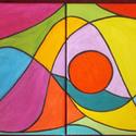 Dallam-4 részes akril festmény, Dekoráció, Képzőművészet, Festmény, Akril, Festészet, Dallam  akril-vászon eredeti festmény.    A festmény 4 részből áll, mely egyenként 30×24cm.  Össz m..., Meska