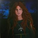Lunar-akril/vászon festmény, Képzőművészet, Dekoráció, Festmény, Festészet, Lunar 50×70cm Akril vászon Eredeti festmény, Meska