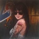 Tamara akril festmény, Képzőművészet, Festmény, Akril, Festészet, Tamara című eredeti akril-vászon festmény  Mérete 50×50cm., Meska