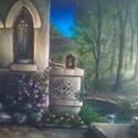 Hajnal akril festmény, Képzőművészet, Festmény, Akril, Festészet, Hajnal akril-vászon festmény  50×70cm., Meska
