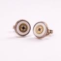 Miss Bell - steampunk fülbevaló, Ékszer, óra, Fülbevaló, A fülbevaló átmérője: 8mm  Igazi apró kincs :), Meska