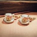 Miss Juliet B. Buckly - Miniatűr porcelán teáscsésze fülbevaló, Ékszer, óra, Fülbevaló, Ezúttal elmaradnak a fogaskerekek és a csillogó kristályok (bár kérésre minden megoldható;)) és csak..., Meska