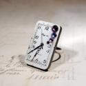 Miss Rosalie A. Nolan - Steampunk gyűrű, Ékszer, óra, Gyűrű, Régi ismerőseink, az óraszámlapok, új köntösbe öltöztetve csatlakoztak Nolan család ékszereihez. Bár..., Meska
