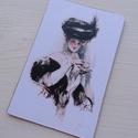 Vintage képeslap - Fisher girls 2., Dekoráció, Naptár, képeslap, album, Otthon, lakberendezés, Képeslap, levélpapír, Valódi, kézzel készült vintage képeslap, mely akár postán is feladható! (borítékkal és anélkül is 11..., Meska