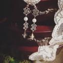 Lady Lavinia Meredith - artdeco stílusú fülbevaló, Ékszer, Esküvő, Fülbevaló, Esküvői ékszer, A Gosford kollekció darabjai mind a feltűnő és részlet gazdag elegancia jegyében születtek. Részeik ..., Meska