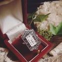 Lady Louisa Stockbridge - artdeco stílusú gyűrűóra (hematit színű kövekkel), Ékszer, Esküvő, Esküvői ékszer, Karóra, óra, Oly sok kérésnek eleget téve, a kollekció keretében végre megérkeztek az gyűrűórák! Mutat..., Meska