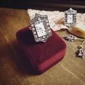 Lady Louisa Stockbridge - artdeco stílusú gyűrűóra (pezsgő színű kövekkel), Ékszer, Esküvő, Esküvői ékszer, Karóra, óra, Oly sok kérésnek eleget téve, a kollekció keretében végre megérkeztek a működő gyűrűórák! Mutatós és..., Meska