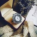 Lady Sylvia McCordle - artdeco stílusú gyűrűóra, Ékszer, Esküvő, Esküvői ékszer, Karóra, óra, Oly sok kérésnek eleget téve, a kollekció keretében végre megérkeztek az gyűrűórák! Mutat..., Meska