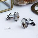 Mr. Ivor Novello - Mandzsetta fekete ezüst színű foglalatban, Letisztult, mégis formabontóan izgalmas ez az ur...
