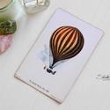 Vintage képeslap - Hőlégballon 6., Valódi, kézzel készült vintage képeslap, mely...