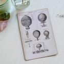 Vintage képeslap - Hőlégballon 3., Dekoráció, Naptár, képeslap, album, Otthon, lakberendezés, Képeslap, levélpapír, Valódi, kézzel készült vintage képeslap, mely akár postán is feladható!  Vagy igazi hangulatos essze..., Meska
