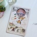 Vintage képeslap - Hőlégballon 4., Valódi, kézzel készült vintage képeslap, mely...