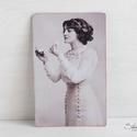Vintage képeslap - Lily Elsie 3., Valódi, kézzel készült vintage képeslap, mely...