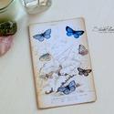 Vintage képeslap - Pillangó 4., Valódi, kézzel készült vintage képeslap, mely...
