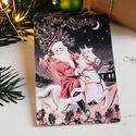 Vintage Karácsony - Mikulás képeslap 3., Dekoráció, Karácsonyi, adventi apróságok, Naptár, képeslap, album, Ünnepi dekoráció, Ajándékkísérő, képeslap, Képeslap, levélpapír, Valódi, kézzel készült vintage képeslap, mely akár postán is feladható!  Vagy igazi hangulatos essze..., Meska