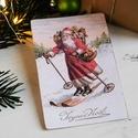 Vintage Karácsony - Mikulás képeslap 5., Valódi, kézzel készült vintage képeslap, mely...