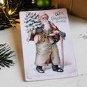 Vintage Karácsony - Mikulás képeslap 6., Valódi, kézzel készült vintage képeslap, mely...