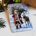 Vintage Karácsony - Mikulás képeslap 8., Valódi, kézzel készült vintage képeslap, mely...