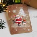 Vintage Karácsony - Mikulás képeslap 11., Valódi, kézzel készült vintage képeslap, mely...