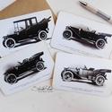 4 darabos Vintage képeslap kollekció - Oldtimer autók 2., Naptár, képeslap, album, Otthon, lakberendezés, Férfiaknak, Képeslap, levélpapír, Ha nem tudsz választani, inkább menj biztosra és vidd mind a négy szépséget! :)  Így csoportosan még..., Meska