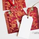 Vintage ajándékkísérő kártya 2., Naptár, képeslap, album, Karácsonyi, adventi apróságok, Ajándékkísérő, képeslap, Ajándékkísérő, 6 db-os, elegáns, 220 grammos dekorpapírra nyomott, igazi vintage hangulatú ajándékkísérő, m..., Meska