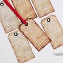 Vintage ajándékkísérő kártya 4., Karácsonyi, adventi apróságok, Naptár, képeslap, album, Ajándékkísérő, képeslap, Ajándékkísérő, 6 db-os, elegáns, 220 grammos dekorpapírra nyomott, igazi vintage hangulatú ajándékkísérő, mely töké..., Meska