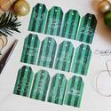 Vintage Karácsony - ajándékkísérő kártya 3., Karácsonyi, adventi apróságok, Naptár, képeslap, album, Ajándékkísérő, képeslap, Ajándékkísérő, 12 db-os, elegáns, 250 grammos  dekorpapírra nyomott, igazi vintage hangulatú ajándékkísérők, melyek..., Meska