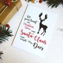 My Deer - Rénszarvasos karácsonyi képeslap 1., Karácsonyi, adventi apróságok, Naptár, képeslap, album, Ajándékkísérő, képeslap, Képeslap, levélpapír, Most Rudolf, a legmenőbb piros orrú rénszarvas viheti az ünnepi üzeneteket, a szívednek legkedvesebb..., Meska