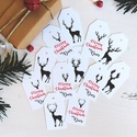 My Deer karácsonyi ajándékkísérő 12 db, Dekoráció, Naptár, képeslap, album, Ünnepi dekoráció, Karácsonyi, adventi apróságok, Ajándékkísérő, képeslap, Ajándékkísérő, A My Deer képeslapokhoz illő kis kártyákkal, egyszerűen tökéletesen rénszarvasos lesz az ös..., Meska