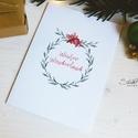 """Téli természet - karácsonyi koszorú képeslap 6., Dekoráció, Karácsonyi, adventi apróságok, Naptár, képeslap, album, Ünnepi dekoráció, Ajándékkísérő, képeslap, Képeslap, levélpapír, """"Winter Wonderland""""  A téli természet lágy árnyalataival jelenik meg az ünnepi hangulat a lapok illu..., Meska"""