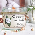 """Gardenia szójagyertya - CozyPlum Candles, Dekoráció, Esküvő, Otthon, lakberendezés, Gyertya, mécses, gyertyatartó, Gardenia szójagyertya  """"The scent of the most precious moments""""  Egy személyes kedvencemet, a Gardén..., Meska"""