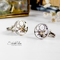 Mr. Ivor Novello - Mandzsetta ezüst színű foglalatban, Letisztult, mégis formabontóan izgalmas ez az ur...