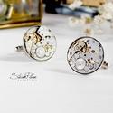 Sir Tristan LeBret - Mandzsetta ezüst színű foglalatban, Letisztult, mégis formabontóan izgalmas ez az ur...