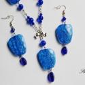 Everyday Blue - királykék gyöngyös szett, Ékszer, óra, Ékszerszett, Fülbevaló, Nyaklánc, Everyday Blue... ha egy nem mindennapi kéket viselnél minden nap. :) Kellemesen feldobhatod legegy..., Meska