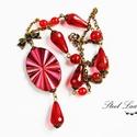Lady in Red - piros nyaklánc, Ékszer, óra, Nyaklánc, Lady in Red, azaz hölgy pirosban. Ez a nyaklánc egyszerre csábító és trendi, ajánlom minden t..., Meska
