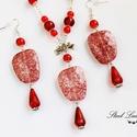 Everyday Red - piros gyöngyös szett, Ékszer, Nyaklánc, Fülbevaló, Ékszerszett, Everyday Red... ha egy nem mindennapi pirosat viselnél minden nap. :) Kellemesen feldobhatod legegy..., Meska