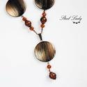 Brown Eternity - barna gyöngyös nyaklánc , Ékszer, óra, Nyaklánc, Brown Eternity, azaz barna örökkévalóság.  Egy kellemesen meleg, barna árnyalatú nyakláncot ..., Meska