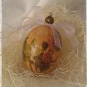 Húsvéti antik tojás , Húsvéti díszek, Dekoráció, Otthon, lakberendezés, Dísz, Antik hatású, decoupage technikával készített műanyag tojások. NEM törik!  A minták darabon..., Meska