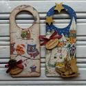 Karácsonyi üdvözlő ajtóra (2 darabos szett), Különféle motívummal díszített ünnepi dekor...