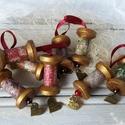 Rusztikus karácsonyfadísz (8 darabos garnitúra)